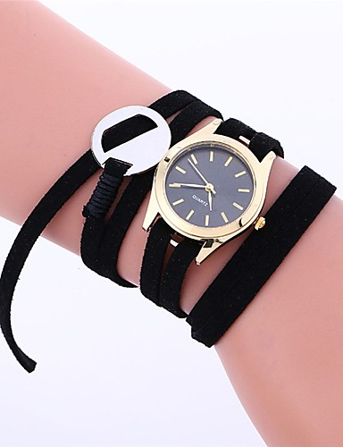 Pentru femei Ceas La Modă Ceas Elegant Quartz 30 m Cronograf Piele Bandă Analog Casual Elegant Negru / Alb / Pink - Galben Roz Fructe verzi Un an Durată de Viaţă Baterie / Oțel inoxidabil