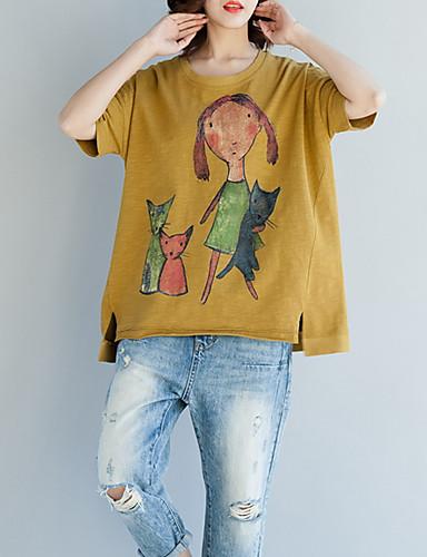 T-shirt Damskie Bawełna Luźna - Portret