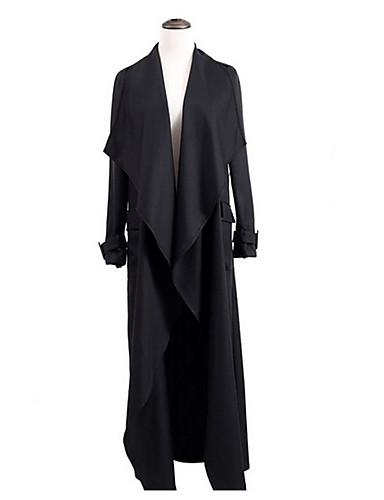 Pentru femei În V Palton Vintage - Mată / Primăvară