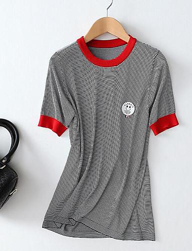 T-shirt Damskie Podstawowy Prążki