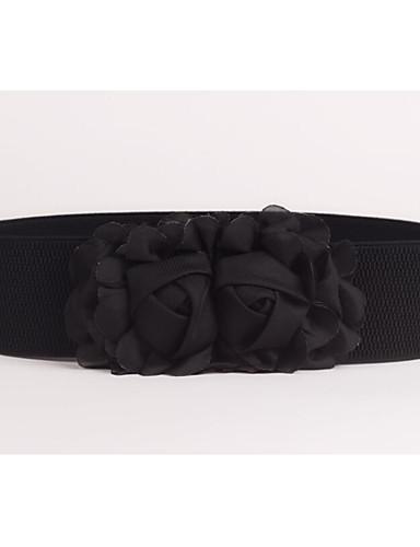 cheap Women's Belt-Women's Fabric Wide Belt - Solid Colored / Polyester