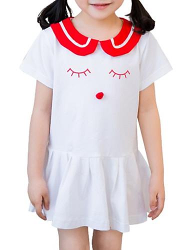 Dzieci / Brzdąc Dla dziewczynek Geometryczny Krótki rękaw Sukienka