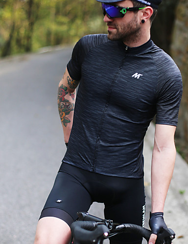 cheap Cycling Clothing-Mysenlan Men's Short Sleeve Cycling Jersey Solid Color Bike Jersey Sports Polyester Taffeta Mountain Bike MTB Road Bike Cycling Clothing Apparel / Micro-elastic / Expert / Expert / Breathable Armpits