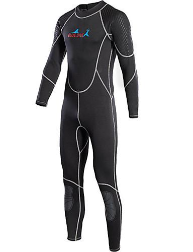 Bluedive للرجال بدلة غطس كاملة 2mm النيوبرين سترات للغوص الدفء, سريع جاف كم طويل السحاب الخلفي, واقي الركب - سباحة / غوص / تزلج على الماء بقع / سيريتش