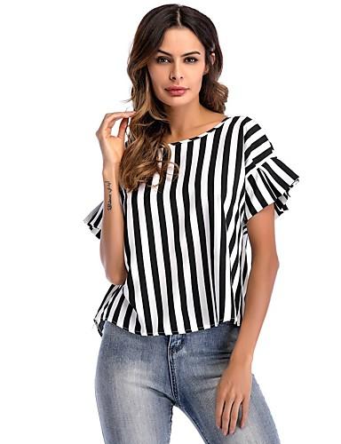Mujer Blusa A Rayas Blanco y Negro 6701491 2019 –  14.10 a5d709e6b21
