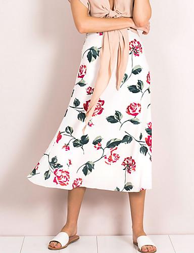 Damskie Linia A Spódnice - Wyjściowe Kwiaty