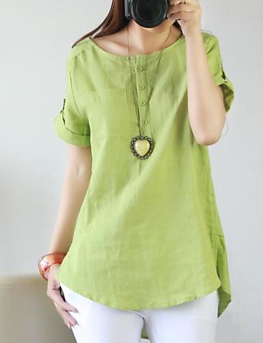 billige Dametopper-Skjorte Dame - Ensfarget Grunnleggende