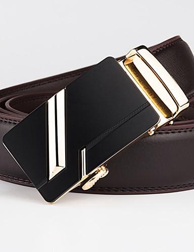 رخيصةأون أحزمة الرجال-حزام خصر لون سادة / هندسي رجالي, أساسي