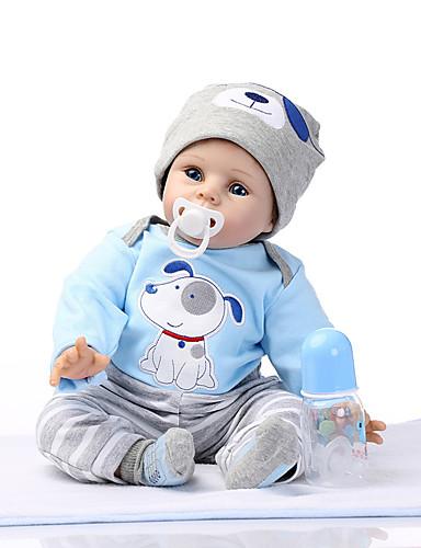 povoljno Igračke i hobiji-NPKCOLLECTION NPK DOLL Autentične bebe Ponovno rođena kućica za malu djecu 24 inch Silikon Vinil - vjeran Sladak Dar Sigurno za djecu Non Toxic Ručni primijenjeni trepavice Dječjom Uniseks / CE