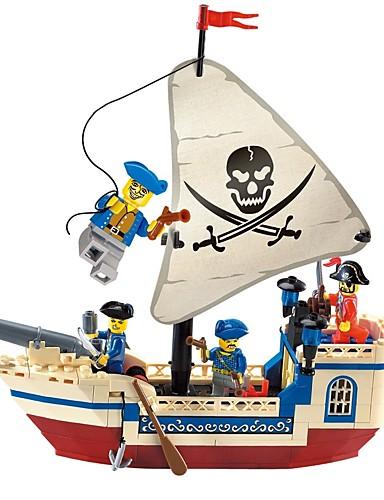 billige Byggeblokker-Byggeklosser Konstruksjonssett Leker Pedagogisk leke 188 pcs Pirates of the Caribbean Pirat skip kompatibel Legoing utsøkt Foreldre-barninteraksjon Gutt Jente Leketøy Gave
