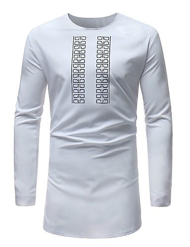 T-shirt Męskie Podstawowy, Nadruk Geometryczny