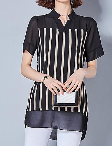 Pentru femei Bluză Afacere / De Bază - Dungi