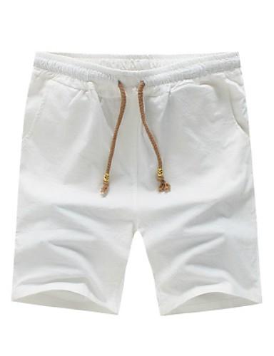 Bărbați Mărime Plus Size Bumbac / In Zvelt Pantaloni Scurți Pantaloni Mată / Va rugăm selectați cu o mărime mai mare decât purtați.