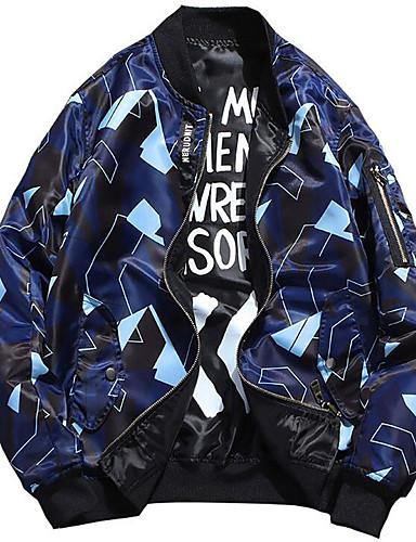 Bărbați Stand Jachetă De Bază - Geometric / Manșon Lung