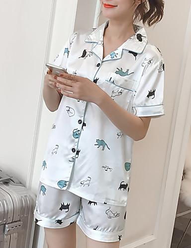 Pentru femei Pătrat Costume Pijamale Geometric