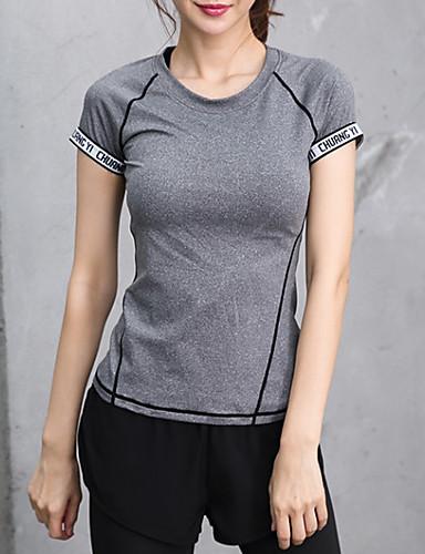tricou sport pentru femei - gât rotund cu litere