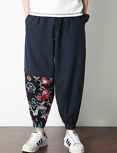 Bărbați Chinoiserie Pantaloni Chinos Pantaloni Floral