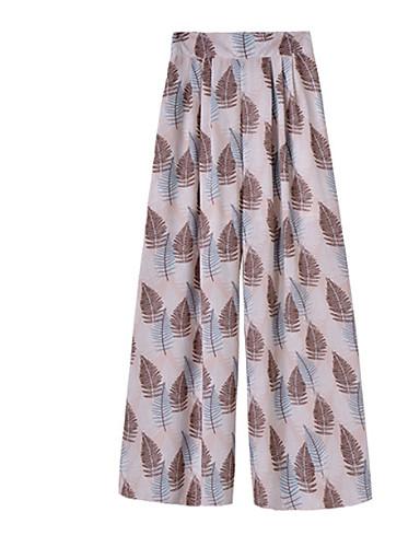 Pentru femei Boho Larg Picior Larg Pantaloni - Imprimeu, Geometric / Primăvară