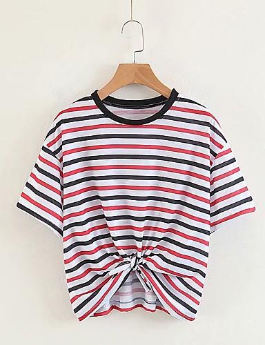 Pentru femei Tricou De Bază - Dungi