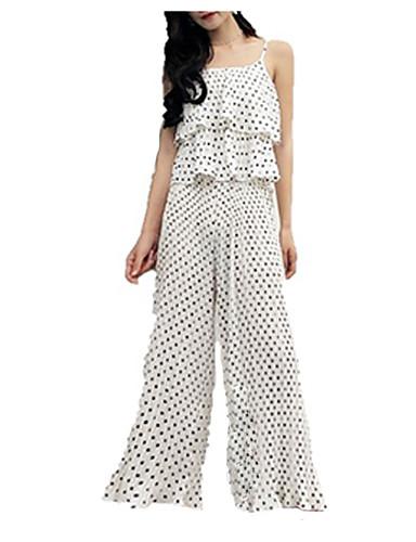 Pentru femei Larg Set - Buline, Pantaloni Cu Bretele