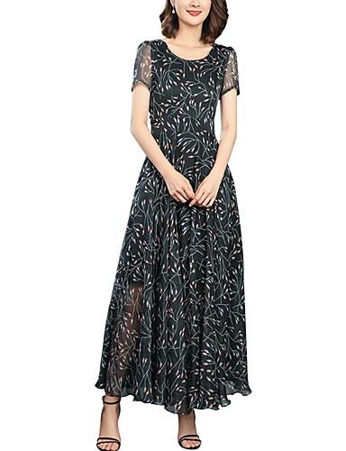Pentru femei Vintage / Șic Stradă Zvelt Pantaloni - Mată Ruched / Plisată / Imprimeu Talie Înaltă Negru / Petrecere / Maxi / Ieșire