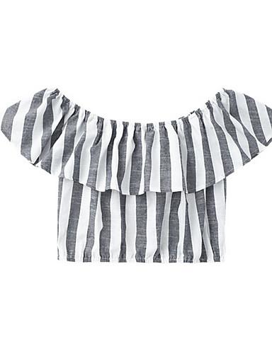 Pentru femei Bateau Tricou Ieșire Dungi