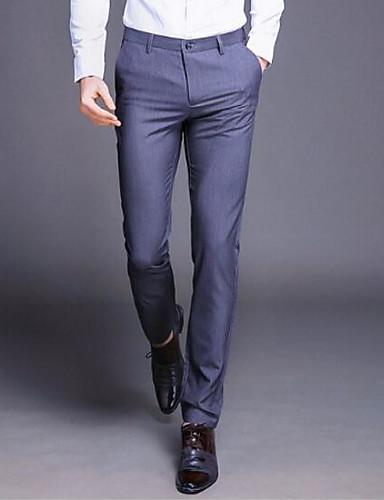 bb033a3f0d Pánské Základní Větší velikosti Oblekové Kalhoty - Jednobarevné Černá