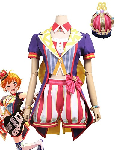 povoljno Anime kostimi-Inspirirana BanG Dream Cosplay Anime Cosplay nošnje Japanski Cosplay Suits Other Kratkih rukava Kaput / Top / Hlače Za Uniseks / Šešir