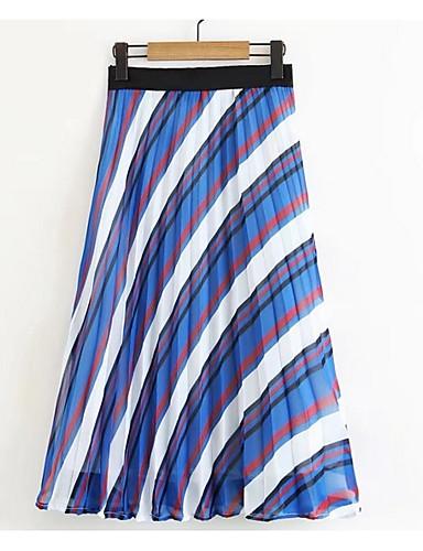 Pentru femei Stilouri De Bază Fuste - Dungi Talie Înaltă / Vară