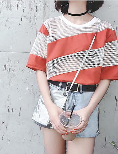 Pentru femei Tricou De Bază - Mată Decupată / Vară / Zvelt