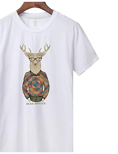 Bărbați Tricou De Bază - Mată / Animal Imprimeu