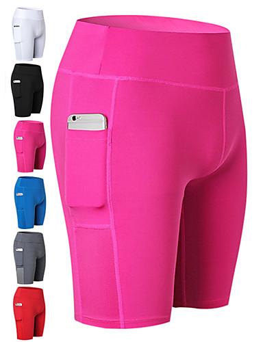 billige Kompressionstøj-Dame Lomme Kompressionsshorts Sport Shorts Kompressionstøj Løb Fitness Gym træning Sportstøj Åndbart Hurtigtørrende Svedreducerende Bekvem Butt Lift Elastisk