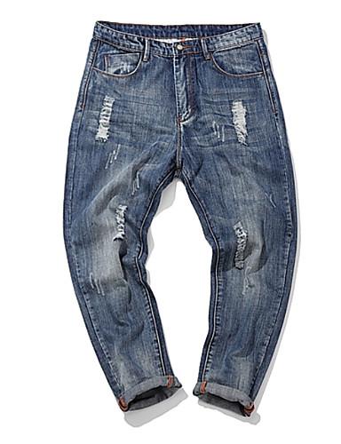 Bărbați Blugi Pantaloni - Găurite, Mată
