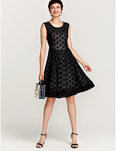 60038e3dd357 Per donna Taglie forti Per uscire Vintage Moda città Linea A Vestito ...