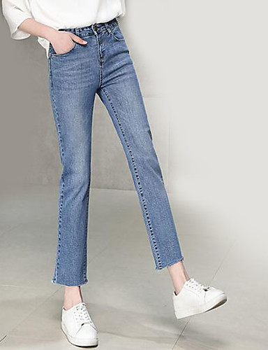 Pentru femei Șic Stradă Blugi Pantaloni Mată