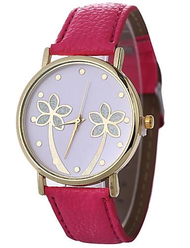 Xu™ Pentru femei Ceas de Mână Quartz Creative Copac Ceas Casual PU Bandă Analog Frunze Modă Negru / Alb / Albastru - Verde Albastru Roz Un an Durată de Viaţă Baterie