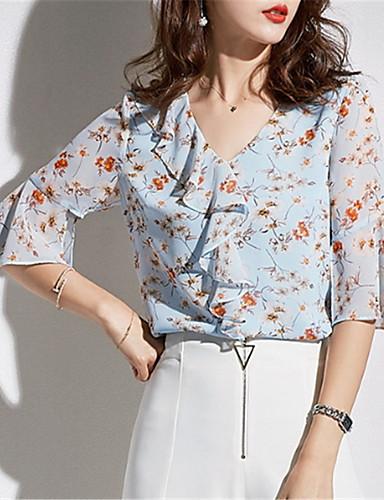 Bluza Žene - Osnovni Dnevno Cvjetni print
