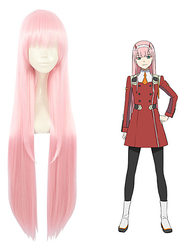 983ef1b179b Darling in the Franxx 02 Zero Two All 40 inch Heat Resistant Fiber Pink  Anime Cosplay Wigs