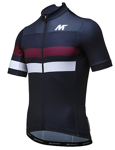 cheap Cycling Clothing-Mysenlan Men's Short Sleeve Cycling Jersey - Black Bike Jersey Top Breathable Quick Dry Sports Polyester Mountain Bike MTB Road Bike Cycling Clothing Apparel / Expert / Expert / Breathable Armpits