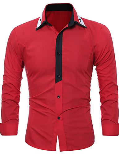 Majica Muškarci - Posao / Osnovni Dnevno / Rad Geometrijski oblici / Color block Kolaž