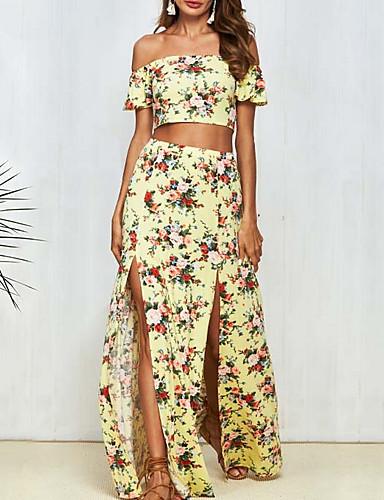 Žene Set - Cvjetni print Suknja