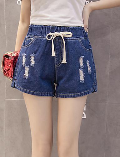 Žene Osnovni Traperice / Kratke hlače Hlače Jednobojni
