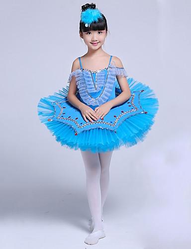 preiswerte Ballettbekleidung-Ballett Kleider Mädchen Leistung Elasthan Horizontal gerüscht / Kombination Ärmellos Tutus