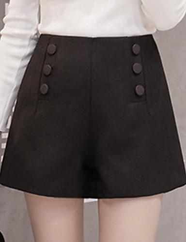 Žene Visoki struk Kratke hlače Hlače Jednobojni
