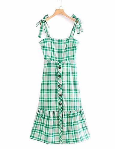 Žene Izlasci Slim Korice Haljina S naramenicama Midi Visoki struk