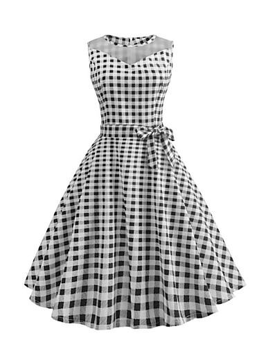 Női Vintage Swing Ruha - Háló   Fűzős 7b1ebfb720