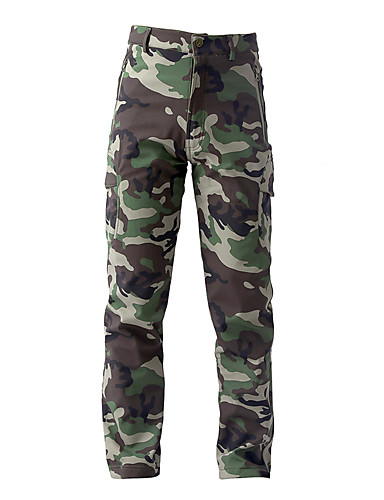 cheap Hiking Trousers & Shorts-Men's Camo Hiking Pants Tactical Pants Outdoor Windproof Fleece Lining Rain Waterproof Anatomic Design Autumn / Fall Winter Softshell Pants / Trousers Hunting Ski / Snowboard Fishing Khaki Champagne