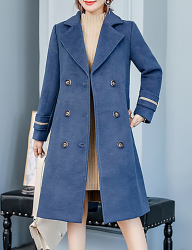 24db6042a1fb0 Women s Holiday   Going out Street chic   Sophisticated Spring   Fall   Winter  Plus Size Long Coat