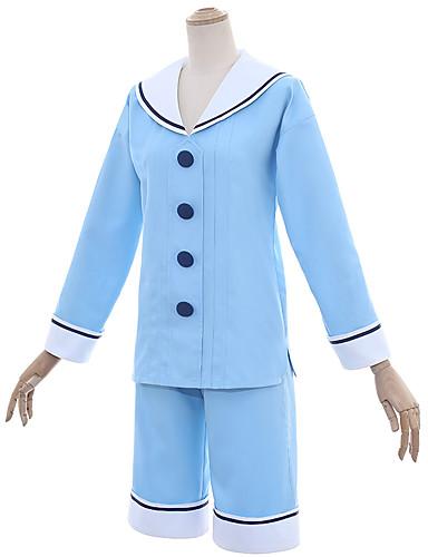 voordelige Cosplay & Kostuums-geinspireerd door Cardcaptor Sakura Kinomoto Sakura Anime Cosplaykostuums Cosplay Kostuums Matroos Top / Broeken Voor Dames