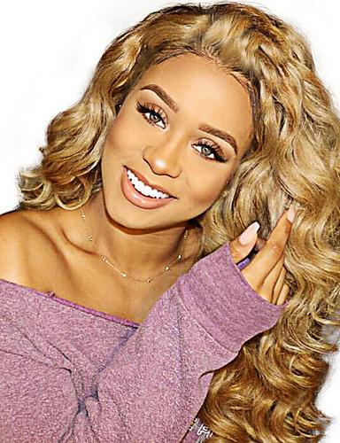 povoljno Perike s ljudskom kosom-Virgin kosa Full Lace Perika S konjskim repom Beyonce stil Brazilska kosa Kovrčav Plavuša Perika 130% Gustoća kose 14-20 inch s dječjom kosom Žene Sexy Lady Prirodno Najbolja kvaliteta Žene Dug